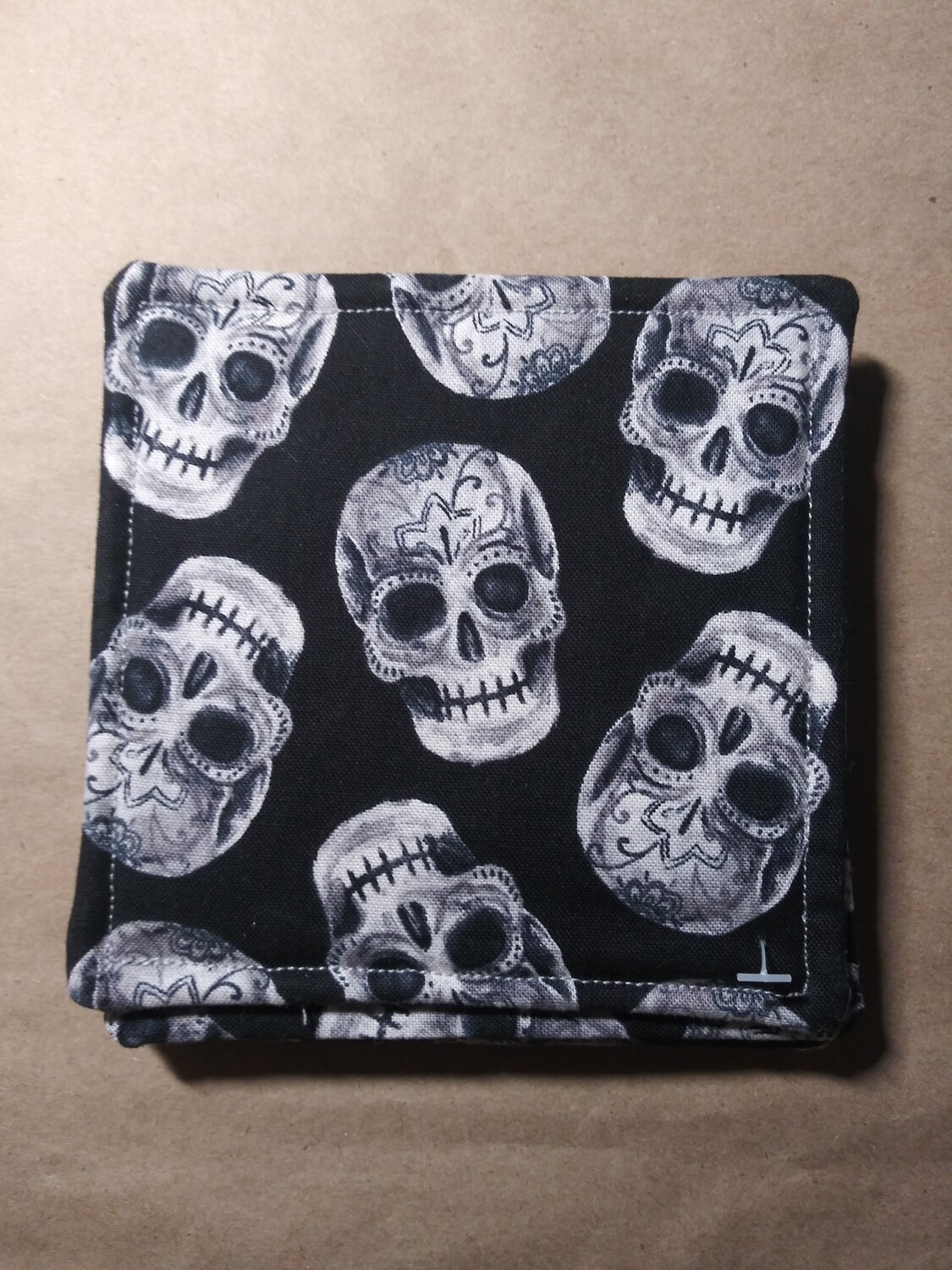 Grey Sugar Skull Coasters
