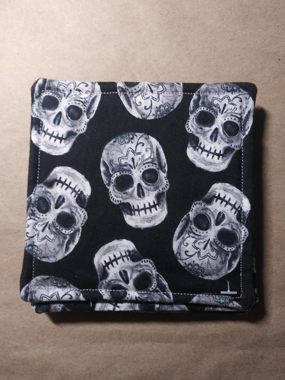 Grey Sugar Skull Coasters
