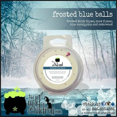 Frosted Blue Balls Wicked Wax Melt