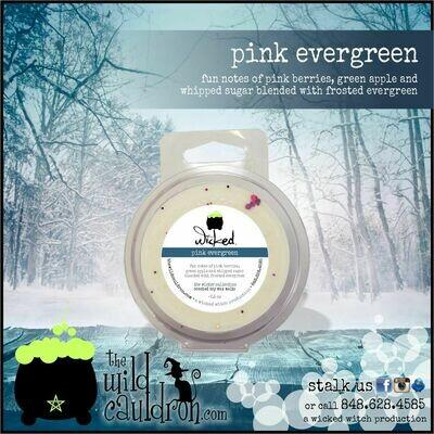 Pink Evergreen Wicked Wax Melt