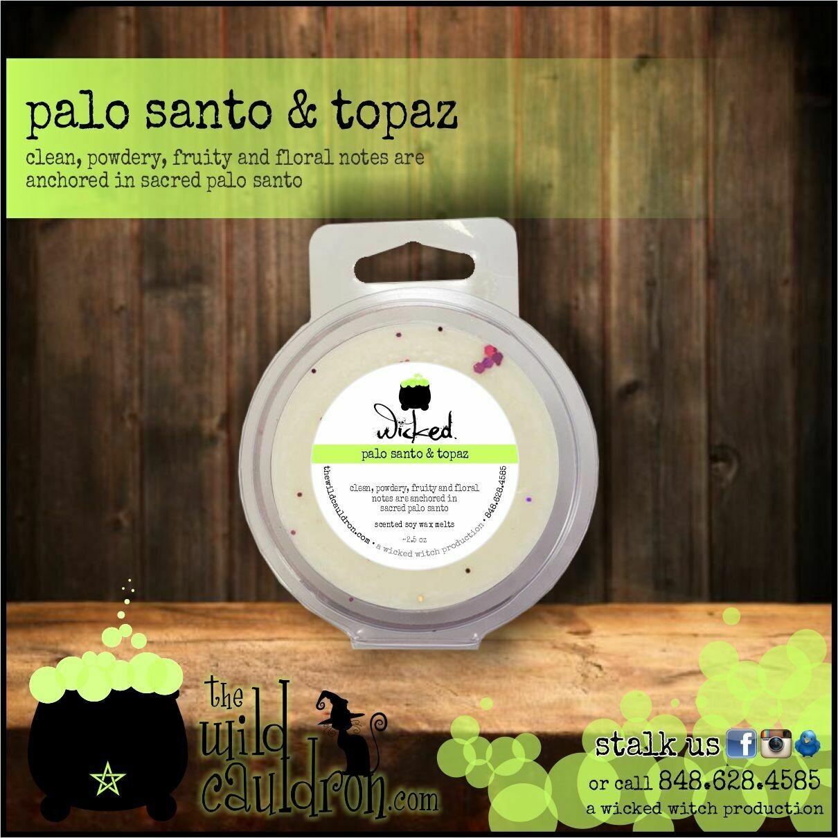 Palo Santo and Topaz Wicked Wax Melts