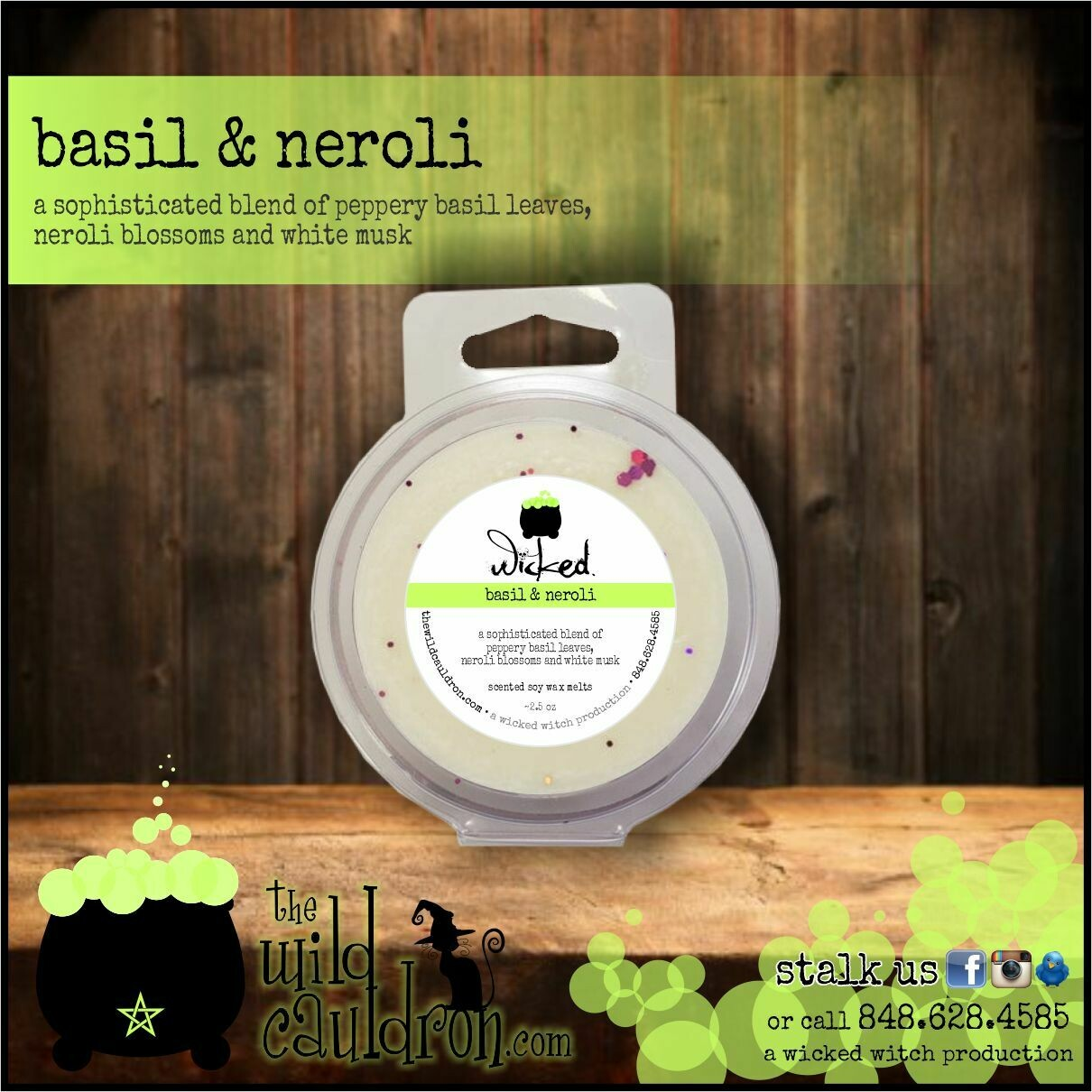 Basil and Neroli Wicked Wax Melts
