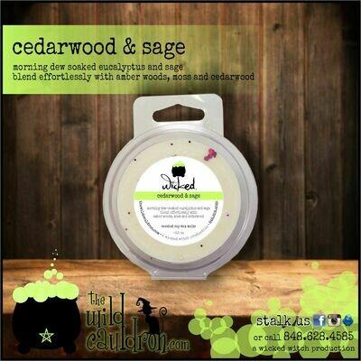 Cedarwood and Sage Wicked Wax Melts
