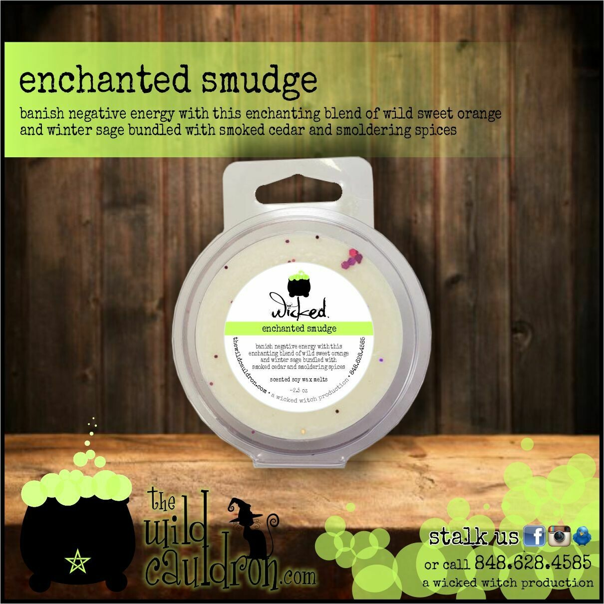 Enchanted Smudge Wicked Wax Melt