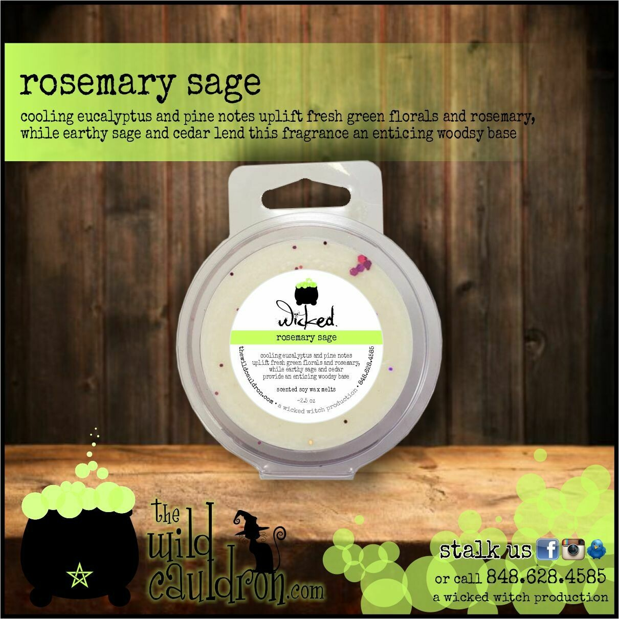 Rosemary Sage Wicked Wax Melts