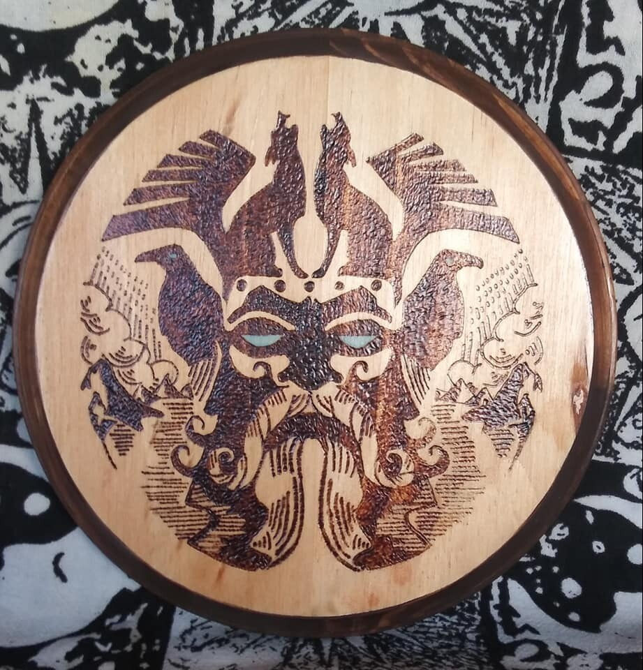 Odin with Wolves/Ravens