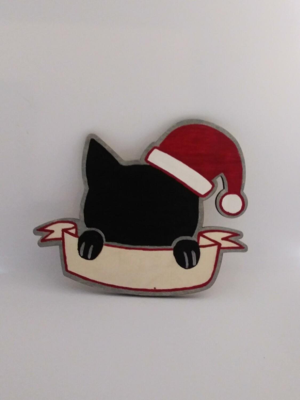Cat w/ Santa Hat (Personalized)