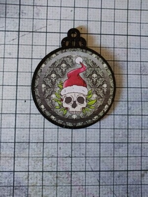 Creepy Santa Skull Ornament
