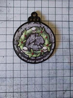 Creepy Skull Wreath Ornament