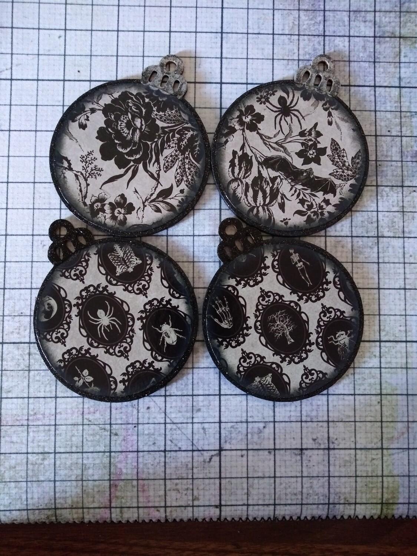 Bones and Bats Ornaments (set of 4)