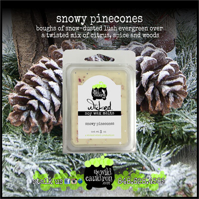 Snowy Pinecones Wicked Wax Melts