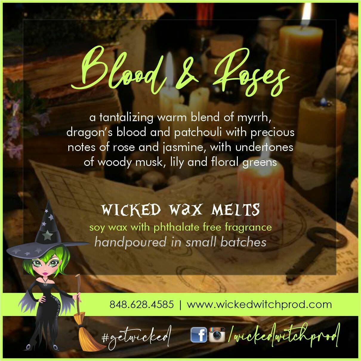 Blood & Roses Wicked Wax Melts