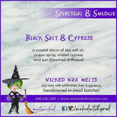 Black Salt & Cypress Wicked Wax Melts