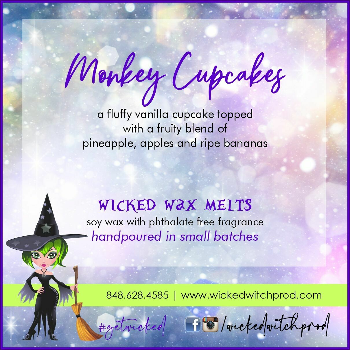 Monkey Cupcakes Wicked Wax Melts
