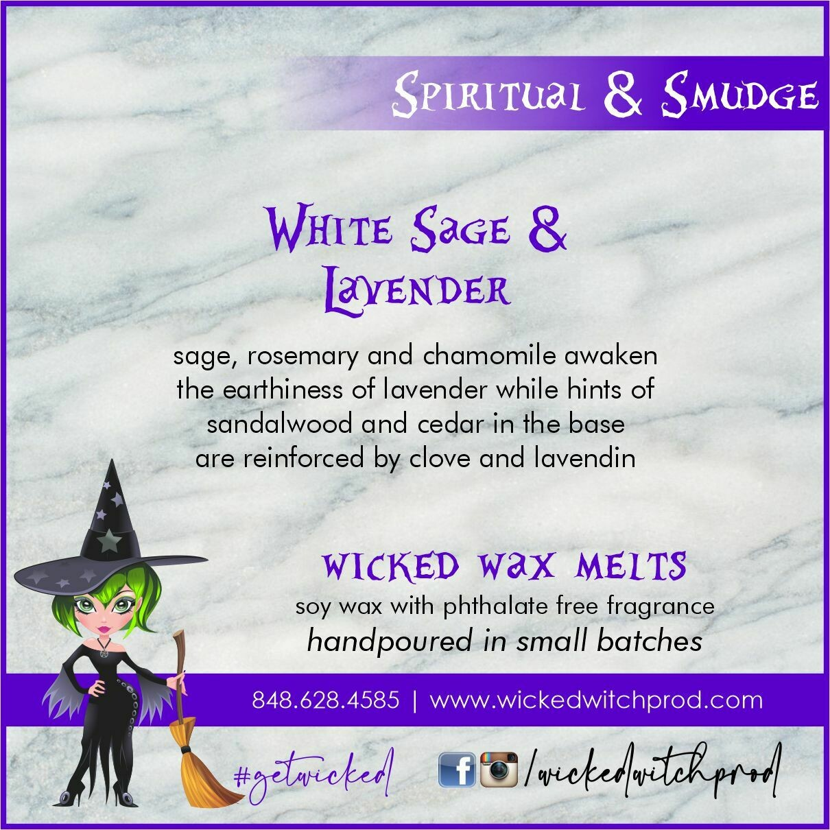 White Sage & Lavender Wicked Wax Melts