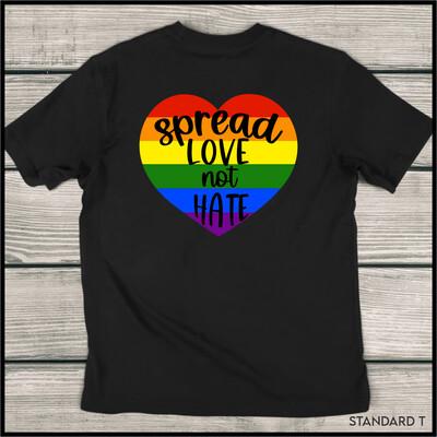 Spread Love Not Hate Heart Standard T-Shirt