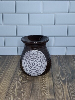 Heart Mandala Warmer (Brown)