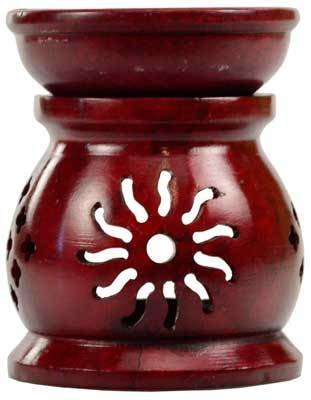 Red Soapstone Wax & Oil Warmer