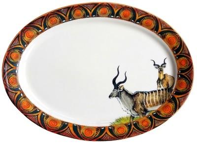 """Oval Platter 16"""" x 12"""" Kudu"""