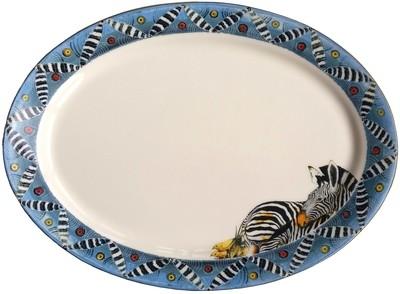 "Oval Platter 16"" x 12"" Zebra"