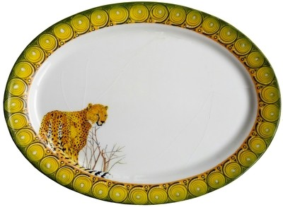"Oval Platter 16"" x 12"" Cheetah"