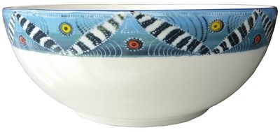 "Salad Bowl Large 9"" Zebra FREE SHIPPING"