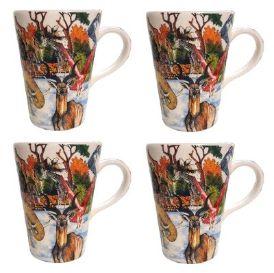 Set of 4 Coffee Mugs Classic...............Full-Scene  FREE SHIPPING