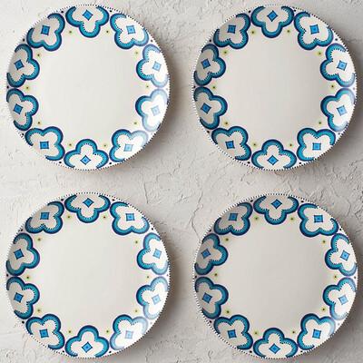 "PENZO's ""Alhambra"" Salad Plates 9"" Set of 4 FREE SHIPPING"