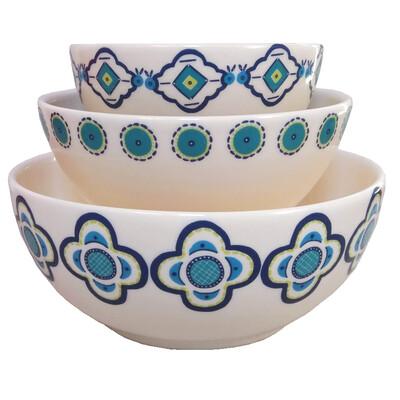 "PENZO's ""Alhambra"" Salad Bowls nr. 1 Set of 3 FREE SHIPPING"