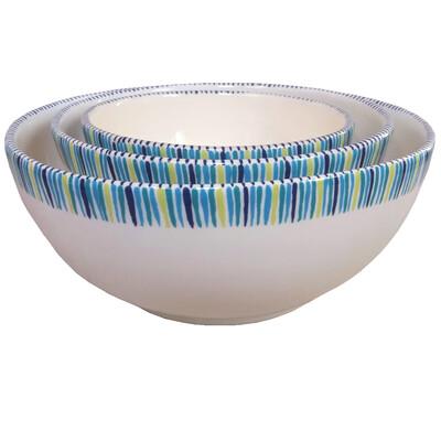 "PENZO's ""Alhambra"" Salad Bowls nr. 2 Set of 3 FREE SHIPPING"