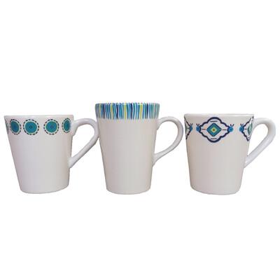"PENZO's ""Alhambra"" Coffee Mugs Set of 3 FREE SHIPPING"