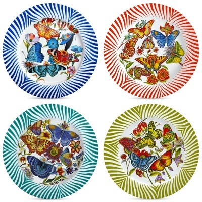 Set of 4 Dinner Plates Lara & Lilly FREE SHIPPING