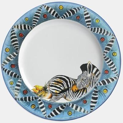 """Dinner Plate 11.5""""         Zebra"""