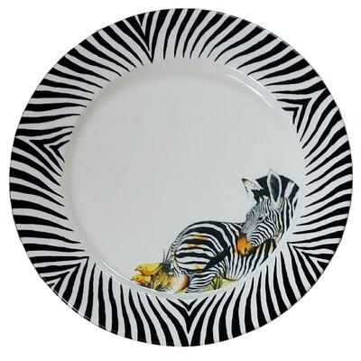"Charger 11.5"" Zebra"