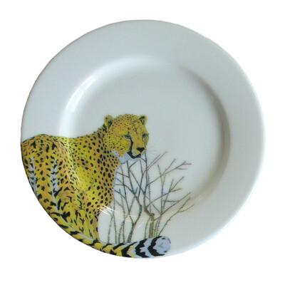 """Bread Plate 7.5""""                   Cheetah"""