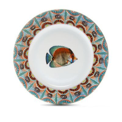 """Salad Plate Ndoro 8.7"""" with gold rim"""