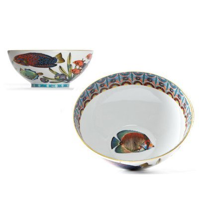 """Cereal Bowl Ndoro 6.3"""" with gold rim"""