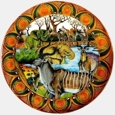 "Dinner Plate 11.5""       Kudu"