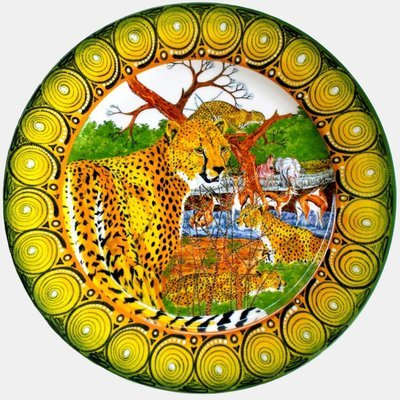 "Dinner Plate 11.5""         Cheetah"
