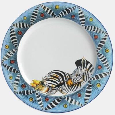 """Salad Plate 9""""        Zebra"""