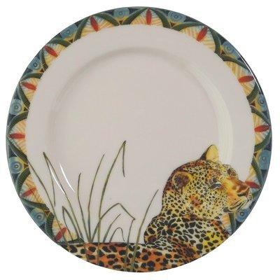 """Bread Plate 7.5""""                Leopard"""