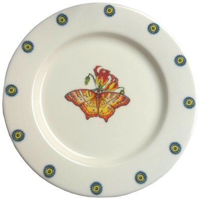 Bread Plate Flame Lily 7.5