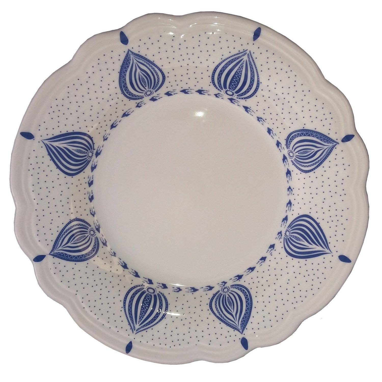"Salad Plate 8.5"" White Edge"