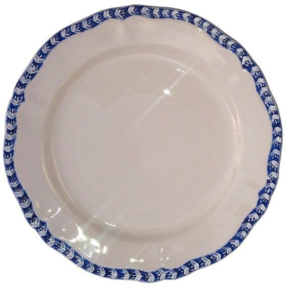 """Dinner Plate 11"""" Blue Edge"""