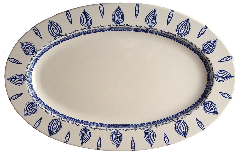 """Oval Platter 15.5"""" x 11.5"""" White Edge"""