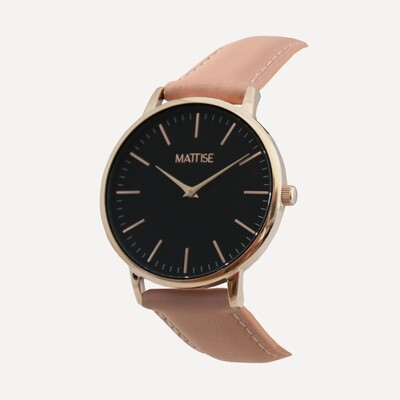 Valerie Black with Pink leather strap