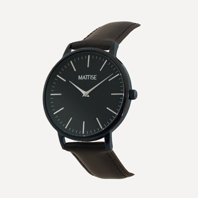 Meis³ with Black leather strap