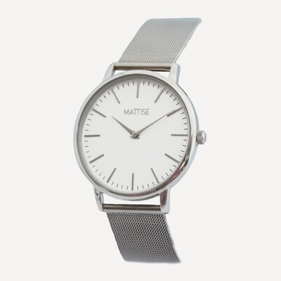 Luisa with Silver mesh strap