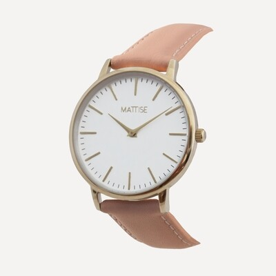 Tori with Pink leather strap