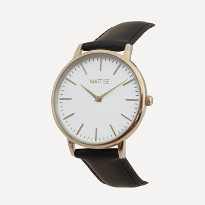 Tori with Black leather strap